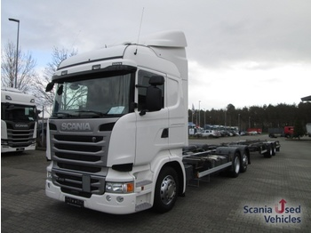 Scania R410LB6X2MLB - containertransporter/ wissellaadbak vrachtwagen