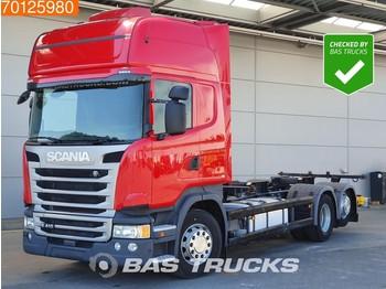 Scania R410 6X2 Retarder ACC Standklima Liftachse Navi Euro 6 - containertransporter/ wissellaadbak vrachtwagen