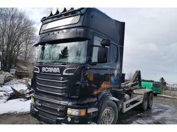 Scania R 620 6x4 hook-lift truck 456 kW  - containertransporter/ wissellaadbak vrachtwagen