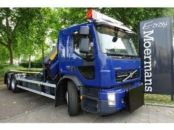 Volvo FE 320 6x2 Abrollkipper Autokran  - containertransporter/ wissellaadbak vrachtwagen