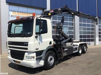 DAF FAN 85 CF 340 Hiab 12 ton/meter laadkraan - haakarmsysteem vrachtwagen