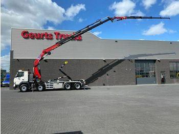 Volvo FMX 410 8X4 HAAKARMSYTEEM + HMF + JIB KRAAN/KRAN  - haakarmsysteem vrachtwagen