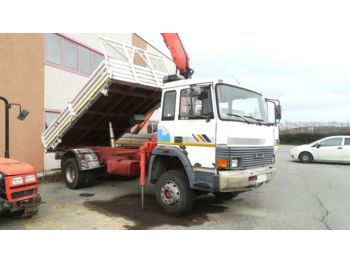 IVECO 135.17 Ribaltabile con Gru - kipper vrachtwagen