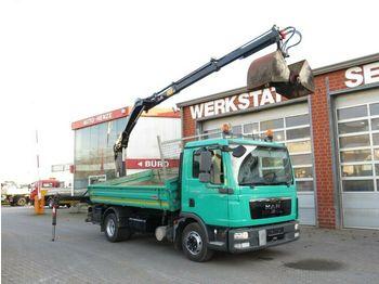 MAN TG-L 12.180 4x2 BL 2-Achs Kipper Heckkran  - kipper vrachtwagen