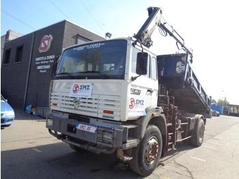 Kipper vrachtwagen Renault G 260 hiab 105-3