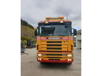 Kipper vrachtwagen Scania 144 LB 460cv 6x2 Asphalt transposer tipper