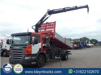 Kipper vrachtwagen Scania P230 hiab 122