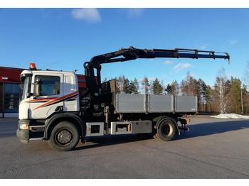Kipper vrachtwagen Scania P340 Palfinger PK16502-4+kippi