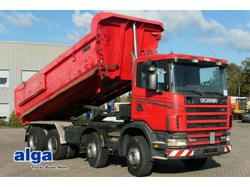 Scania R124CB 8x4, Mulde, Hydr. Klappe, Schalter, 420PS  - kipper vrachtwagen