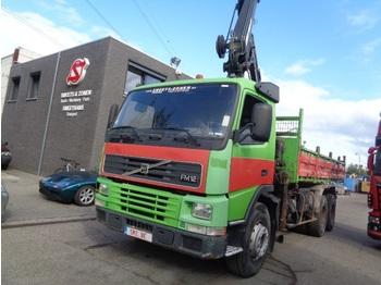 "Kipper vrachtwagen Volvo FM 12 420 HIAB 129-3 283""km"
