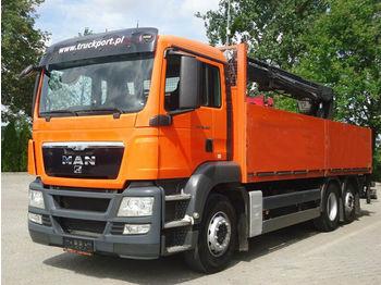 Openbakwagen vrachtwagen MAN TGS 26.400 6x2 Pritsche Kran HIAB 166K PRO