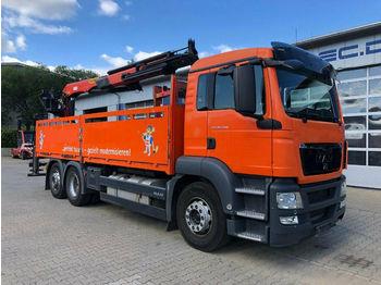 Openbakwagen vrachtwagen MAN TGS 26.400 6x2 Pritsche Kran Palfinger PK 21001L