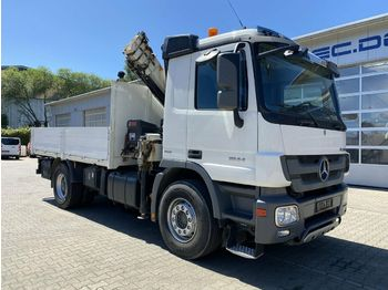 Openbakwagen vrachtwagen Mercedes-Benz ACTROS 1844 4x2 EURO5 Pritsche Kran HIAB 6,3 Ton