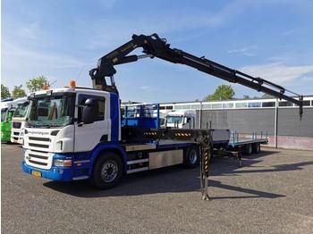 Scania P380 B 6X2/4 Euro4 met Palfinger PK440002-5 + 5e en 6e Functie met 2 assige Wipkar 01/2021 APK - openbakwagen vrachtwagen