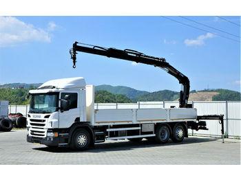 Scania P 410 Pritsche 7,50m +Kran/FUNK *6x2*EURO 6 !!!  - openbakwagen vrachtwagen