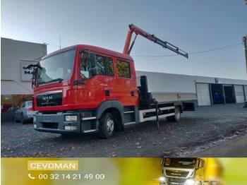 MAN TGL 8.220 Doka / Dubbel cabine Palfinger PK3400 - platte vrachtwagen