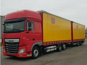 Schuifzeilen vrachtwagen DAF 106.460 SSC 6x2 Jumbozug*Festaufbau*Durchlader