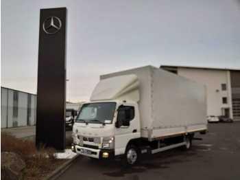 FUSO Mitsubishi Canter 7C18 Pritsche/Plane + LBW  - schuifzeilen vrachtwagen
