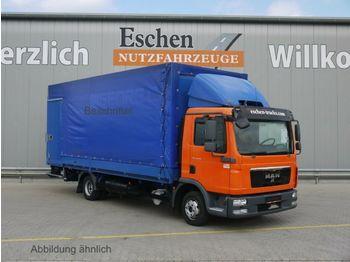Schuifzeilen vrachtwagen MAN TGL 8.180 BL, 4x2, LBW, Klima