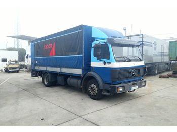 MERCEDES-BENZ 1422 left hand drive 14 ton OM441 V6 engine - schuifzeilen vrachtwagen