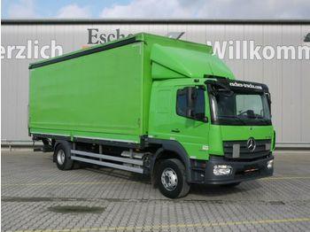 Schuifzeilen vrachtwagen Mercedes-Benz 1624 L, 4x2, LBW, Schiebeplane, Edscha