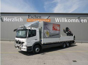 Schuifzeilen vrachtwagen Mercedes-Benz 2024 L Atego, 6x2, Hiab 111B-3 Duo Kran, LBW