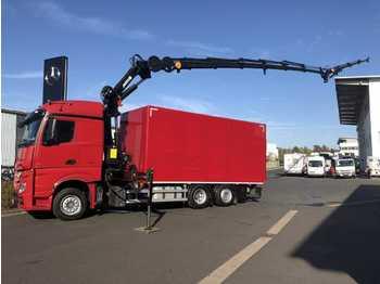 Verpachting Mercedes-Benz Actros 2543 L 6x2 Koffer+LBW+Kran+Fly-Jib+Winde  - schuifzeilen vrachtwagen