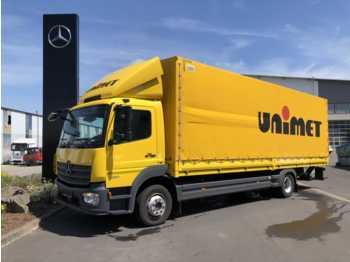 Schuifzeilen vrachtwagen Mercedes-Benz Atego 1230 L Pritsche + Plane + LBW