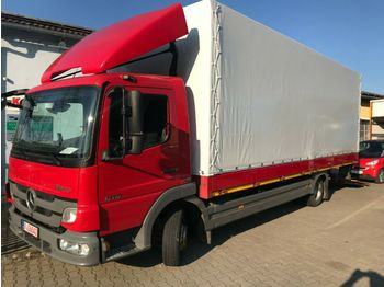 Schuifzeilen vrachtwagen Mercedes-Benz Atego 818 PritschePlane LBW Kamera Standheizung