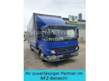 Mercedes-Benz Atego II 818 L L-Haus Schlafkabine KLIMA DPF  - schuifzeilen vrachtwagen