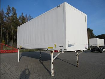 Kofferaufbau Krone - BDF Wechselkoffer 7,45 m Glattwand Türen