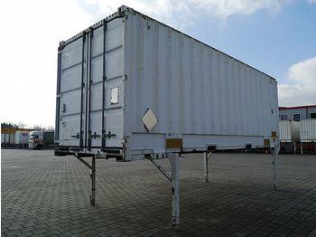 / - Wechselkoffer Portaltür 7,45 m stapel+kranbar - gesloten laadbak