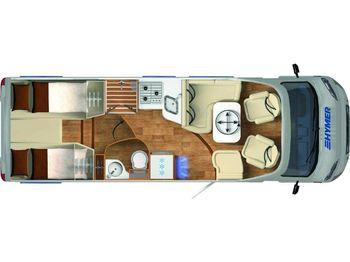 Reisemobil HYMER / ERIBA / HYMERCAR Exsis-t 678 GFK-Dach, Auszugsschlitten für Gas