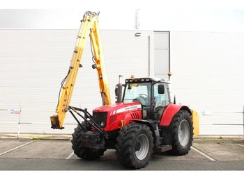 Zemědělský traktor Massey Ferguson 7480 Dyna-VT met Herder Grenadier MBK 513 LS